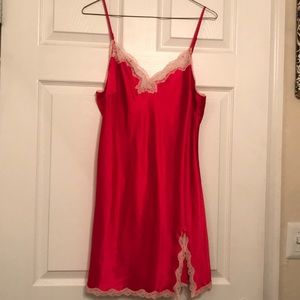Victoria secret hot pink and baby pink lace slip